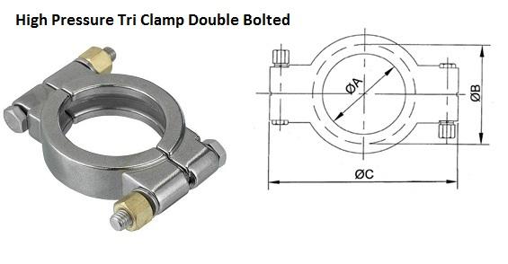 "Clamp 2/"" Tri Clamp UK Stock"