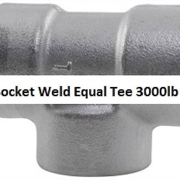 Socket Weld Equal Tee 3000lb