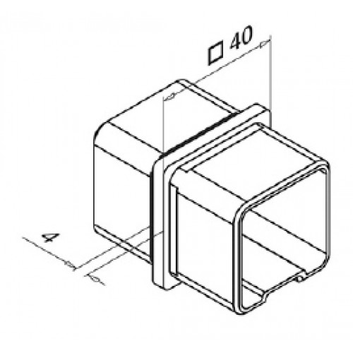 Square Tube Connector for 40mm x 40mm Tube