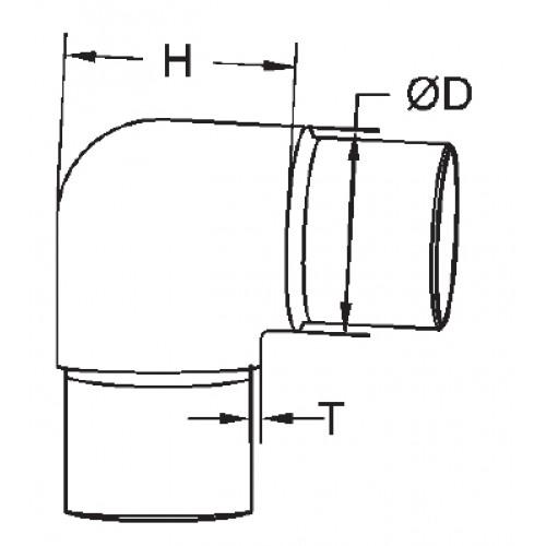 90 Degree Bend Short Radius Style 48 3mm O D X 2mm Wall