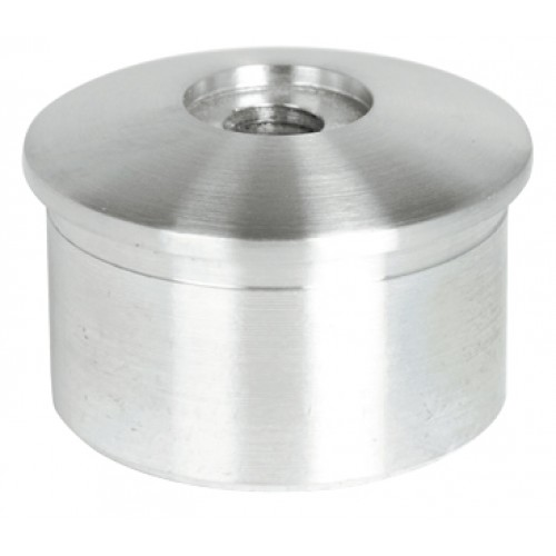 Stainless steel flat drilled end cap mm